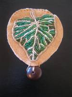 Beadwork Cottonwood Leaf