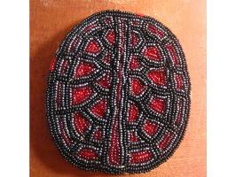 view of beaded turtle shell